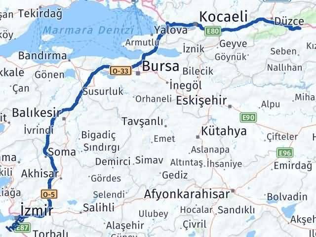 İzmir Konak   Bolu Arası Kaç Km? Arası Kaç Km Saat? Nerede Yol Haritası Yakıt, Rota ve Mesafe Hesaplama