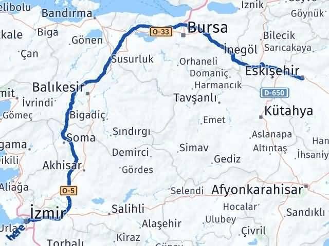 İzmir Konak   Eskişehir Arası Kaç Km? Arası Kaç Km Saat? Nerede Yol Haritası Yakıt, Rota ve Mesafe Hesaplama