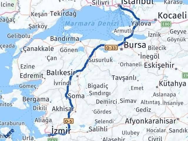 İzmir Konak   İstanbul Arası Kaç Km? Arası Kaç Km Saat? Nerede Yol Haritası Yakıt, Rota ve Mesafe Hesaplama