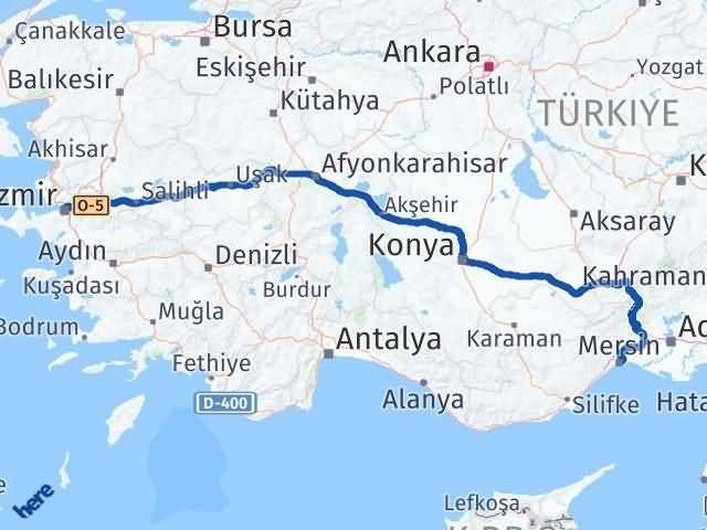 İzmir Konak   Mersin Arası Kaç Km? Arası Kaç Km Saat? Nerede Yol Haritası Yakıt, Rota ve Mesafe Hesaplama