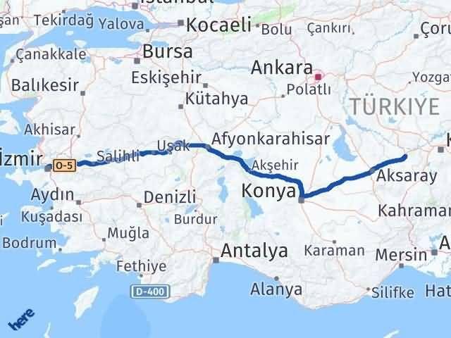İzmir Konak   Nevşehir Arası Kaç Km? Arası Kaç Km Saat? Nerede Yol Haritası Yakıt, Rota ve Mesafe Hesaplama
