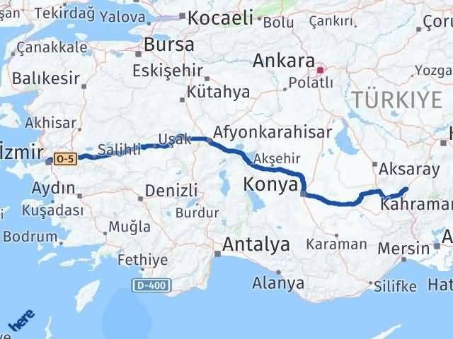 İzmir Konak   Niğde Arası Kaç Km? Arası Kaç Km Saat? Nerede Yol Haritası Yakıt, Rota ve Mesafe Hesaplama