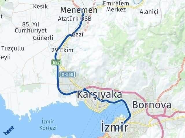 İzmir Menemen Arası Kaç Km Arası Kaç Km Saat? Nerede Yol Haritası Yakıt, Rota ve Mesafe Hesaplama