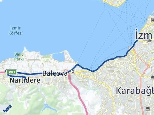 İzmir Narlıdere Arası Kaç Km? Yol Haritası - Km Hesaplama Arası Kaç Km Saat? Nerede Yol Haritası Yakıt, Rota ve Mesafe Hesaplama