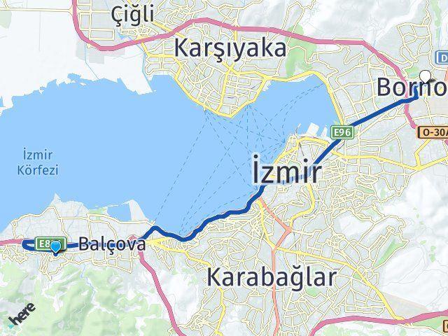 İzmir Narlıdere Bornova Arası Kaç Km? Arası Kaç Km Saat? Nerede Yol Haritası Yakıt, Rota ve Mesafe Hesaplama