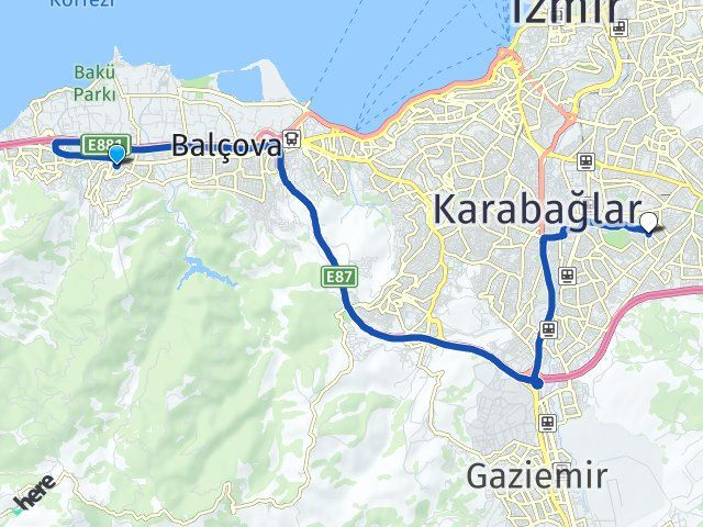 İzmir Narlıdere Buca Arası Kaç Km? Arası Kaç Km Saat? Nerede Yol Haritası Yakıt, Rota ve Mesafe Hesaplama