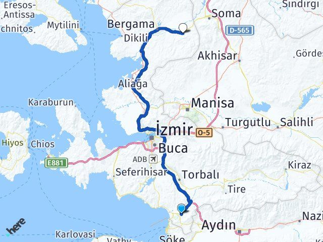 İzmir Selçuk Kınık Arası Kaç Km? Arası Kaç Km Saat? Nerede Yol Haritası Yakıt, Rota ve Mesafe Hesaplama