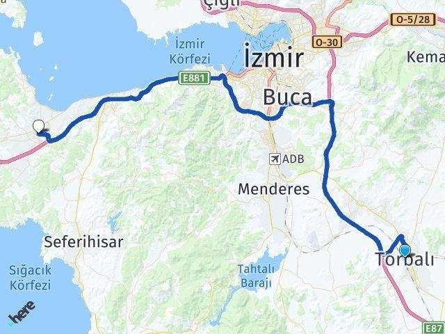 İzmir Torbalı Urla Arası Kaç Km? Arası Kaç Km Saat? Nerede Yol Haritası Yakıt, Rota ve Mesafe Hesaplama