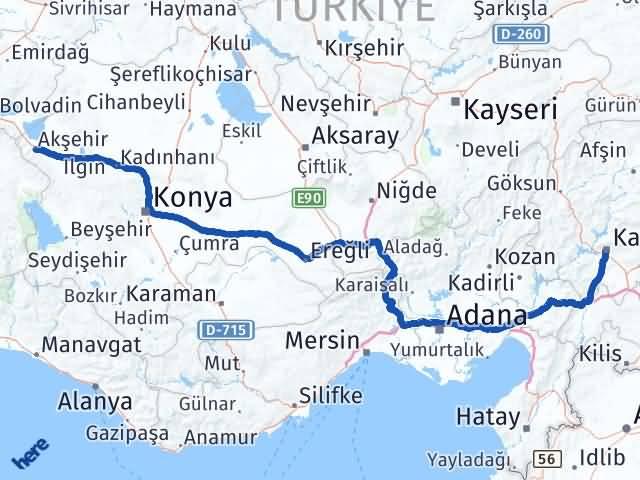 Maraş Akşehir Konya Arası Kaç Km? - Kmhesaplama.com Arası Kaç Km Saat? Nerede Yol Haritası Yakıt, Rota ve Mesafe Hesaplama