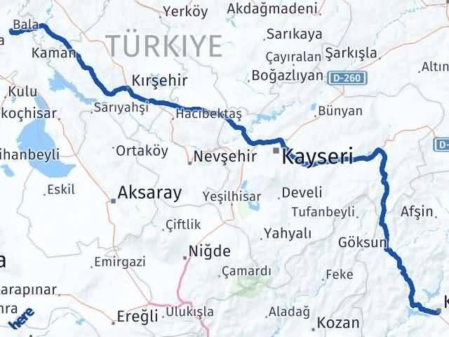 Maraş Bala Ankara Arası Kaç Km? - Kmhesaplama.com Arası Kaç Km Saat? Nerede Yol Haritası Yakıt, Rota ve Mesafe Hesaplama