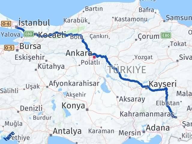 Maraş Beyoğlu İstanbul Arası Kaç Km? - Kmhesaplama.com Arası Kaç Km Saat? Nerede Yol Haritası Yakıt, Rota ve Mesafe Hesaplama