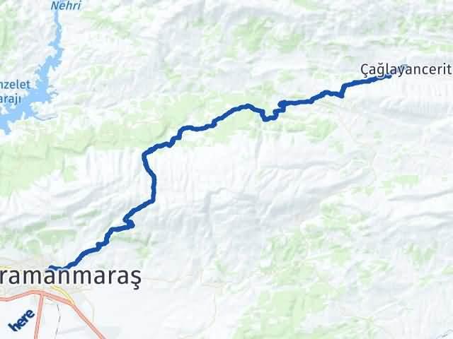 Maraş Çağlayancerit Arası Kaç Km? Yol Haritası - Km Hesaplama Arası Kaç Km Saat? Nerede Yol Haritası Yakıt, Rota ve Mesafe Hesaplama