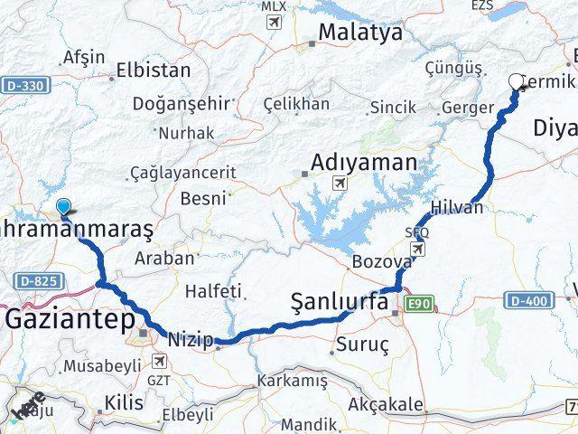 Maraş Çermik Diyarbakır Arası Kaç Km? - Kmhesaplama.com Arası Kaç Km Saat? Nerede Yol Haritası Yakıt, Rota ve Mesafe Hesaplama