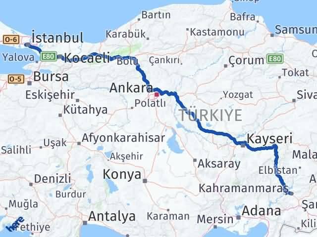 Maraş Gaziosmanpaşa İstanbul Arası Kaç Km? Arası Kaç Km Saat? Nerede Yol Haritası Yakıt, Rota ve Mesafe Hesaplama