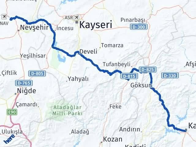 Maraş Gülşehir Nevşehir Arası Kaç Km? - Kmhesaplama.com Arası Kaç Km Saat? Nerede Yol Haritası Yakıt, Rota ve Mesafe Hesaplama