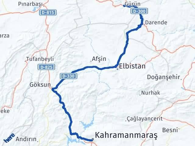 Maraş Gürün Sivas Arası Kaç Km? - Kmhesaplama.com Arası Kaç Km Saat? Nerede Yol Haritası Yakıt, Rota ve Mesafe Hesaplama