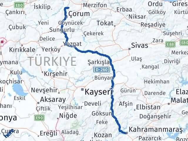 Maraş Hamamözü Amasya Arası Kaç Km? - Kmhesaplama.com Arası Kaç Km Saat? Nerede Yol Haritası Yakıt, Rota ve Mesafe Hesaplama