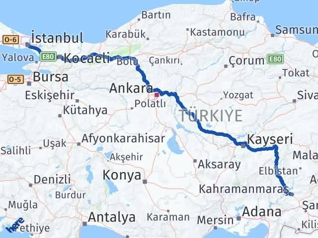 Maraş Kağıthane İstanbul Arası Kaç Km? - Kmhesaplama.com Arası Kaç Km Saat? Nerede Yol Haritası Yakıt, Rota ve Mesafe Hesaplama