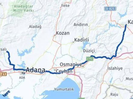 Maraş Karaisalı Adana Arası Kaç Km? - Kmhesaplama.com Arası Kaç Km Saat? Nerede Yol Haritası Yakıt, Rota ve Mesafe Hesaplama