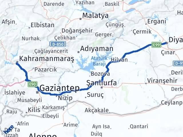 Maraş Kayapınar Diyarbakır Arası Kaç Km? - Kmhesaplama.com Arası Kaç Km Saat? Nerede Yol Haritası Yakıt, Rota ve Mesafe Hesaplama