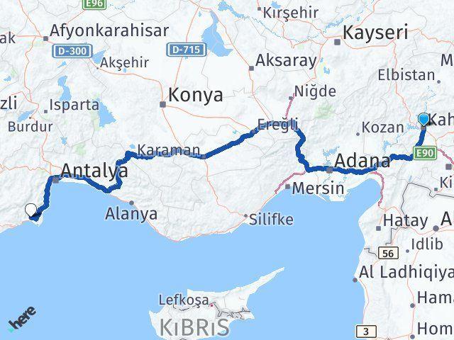 Maraş Kumluca Antalya Arası Kaç Km? - Kmhesaplama.com Arası Kaç Km Saat? Nerede Yol Haritası Yakıt, Rota ve Mesafe Hesaplama