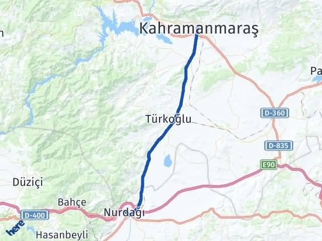 Maraş Nurdağı Gaziantep Arası Kaç Km? - Kmhesaplama.com Arası Kaç Km Saat? Nerede Yol Haritası Yakıt, Rota ve Mesafe Hesaplama