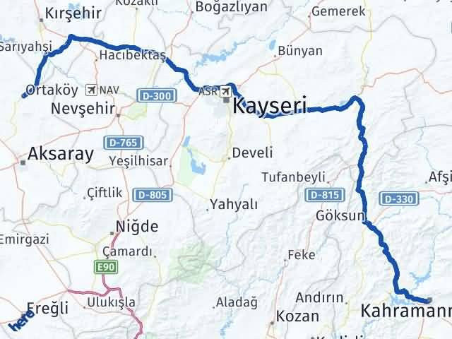 Maraş Ortaköy Aksaray Arası Kaç Km? - Kmhesaplama.com Arası Kaç Km Saat? Nerede Yol Haritası Yakıt, Rota ve Mesafe Hesaplama