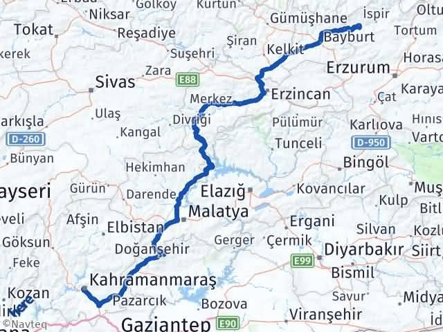 Maraş Pazaryolu Erzurum Arası Kaç Km? - Kmhesaplama.com Arası Kaç Km Saat? Nerede Yol Haritası Yakıt, Rota ve Mesafe Hesaplama