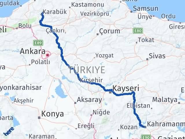 Maraş Safranbolu Karabük Arası Kaç Km? - Kmhesaplama.com Arası Kaç Km Saat? Nerede Yol Haritası Yakıt, Rota ve Mesafe Hesaplama