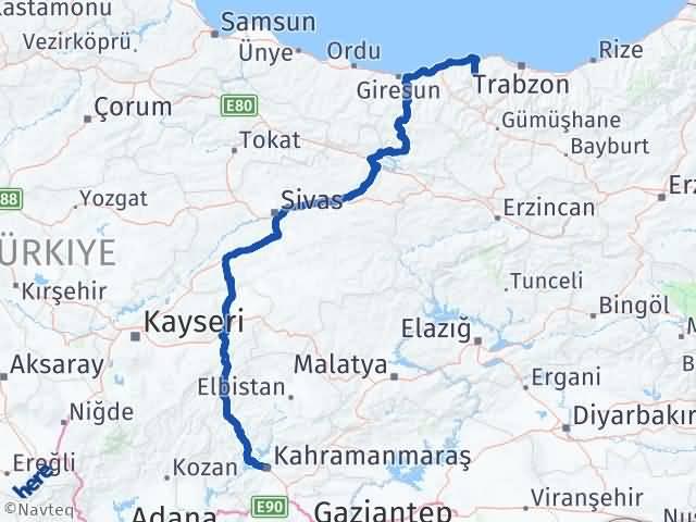 Maraş Şalpazarı Trabzon Arası Kaç Km? - Kmhesaplama.com Arası Kaç Km Saat? Nerede Yol Haritası Yakıt, Rota ve Mesafe Hesaplama