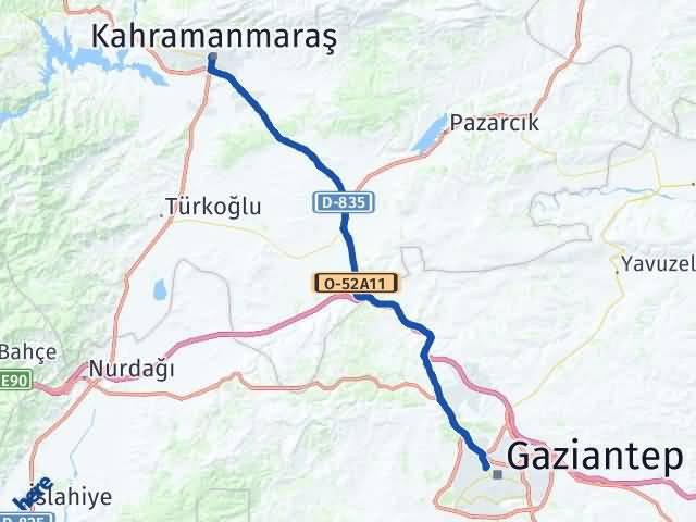 Maraş Şehitkamil Gaziantep Arası Kaç Km? - Kmhesaplama.com Arası Kaç Km Saat? Nerede Yol Haritası Yakıt, Rota ve Mesafe Hesaplama
