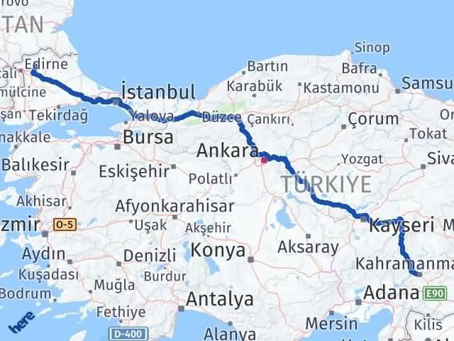 Maraş Süloğlu Edirne Arası Kaç Km? - Kmhesaplama.com Arası Kaç Km Saat? Nerede Yol Haritası Yakıt, Rota ve Mesafe Hesaplama