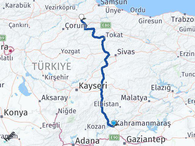 Maraş Suluova Amasya Arası Kaç Km? - Kmhesaplama.com Arası Kaç Km Saat? Nerede Yol Haritası Yakıt, Rota ve Mesafe Hesaplama
