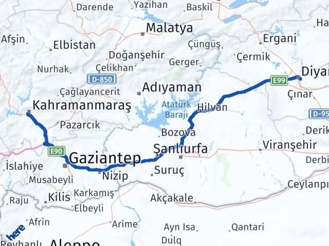 Maraş Sur Diyarbakır Arası Kaç Km? - Kmhesaplama.com Arası Kaç Km Saat? Nerede Yol Haritası Yakıt, Rota ve Mesafe Hesaplama