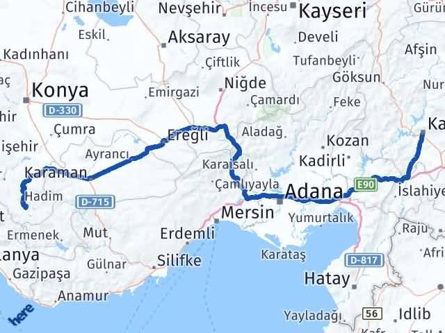 Maraş Taşkent Konya Arası Kaç Km? - Kmhesaplama.com Arası Kaç Km Saat? Nerede Yol Haritası Yakıt, Rota ve Mesafe Hesaplama