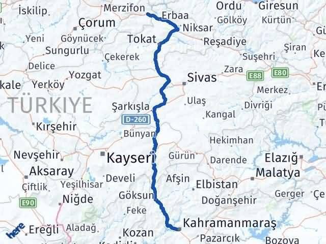 Maraş Taşova Amasya Arası Kaç Km? - Kmhesaplama.com Arası Kaç Km Saat? Nerede Yol Haritası Yakıt, Rota ve Mesafe Hesaplama