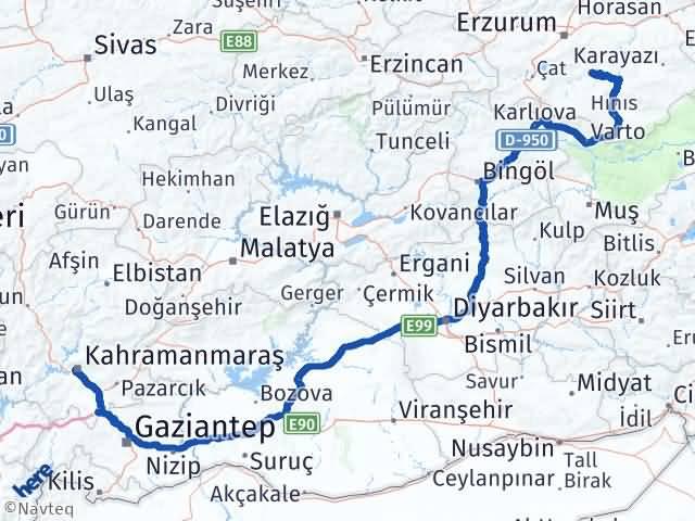 Maraş Tekman Erzurum Arası Kaç Km? - Kmhesaplama.com Arası Kaç Km Saat? Nerede Yol Haritası Yakıt, Rota ve Mesafe Hesaplama