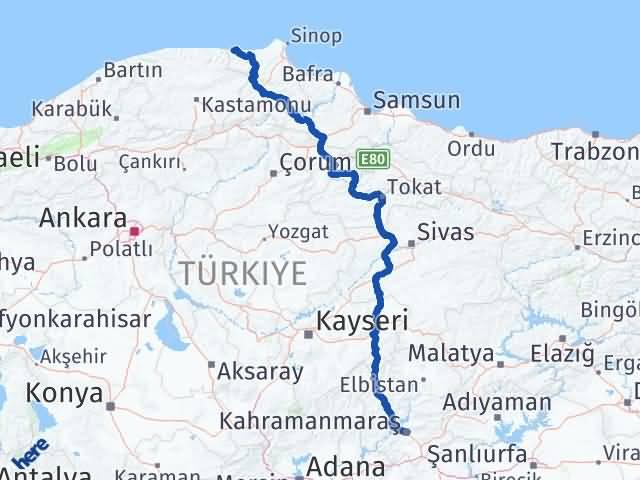 Maraş Türkeli Sinop Arası Kaç Km? - Kmhesaplama.com Arası Kaç Km Saat? Nerede Yol Haritası Yakıt, Rota ve Mesafe Hesaplama