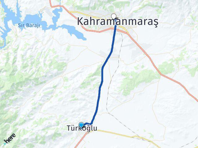 Maraş Türkoğlu Onikişubat Arası Kaç Km? Arası Kaç Km Saat? Nerede Yol Haritası Yakıt, Rota ve Mesafe Hesaplama