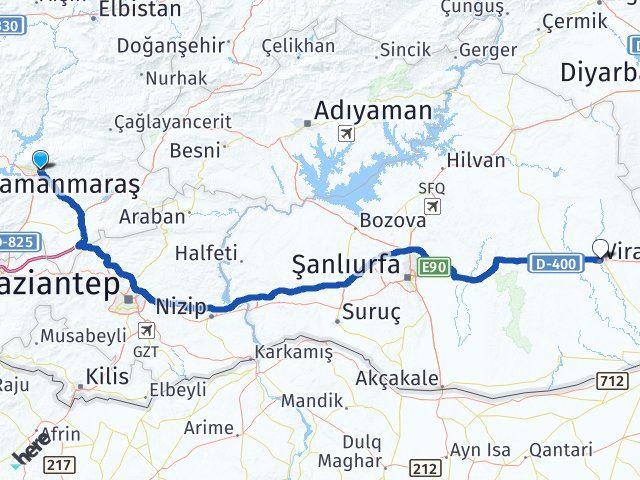 Maraş Viranşehir Şanlıurfa Arası Kaç Km? - Kmhesaplama.com Arası Kaç Km Saat? Nerede Yol Haritası Yakıt, Rota ve Mesafe Hesaplama