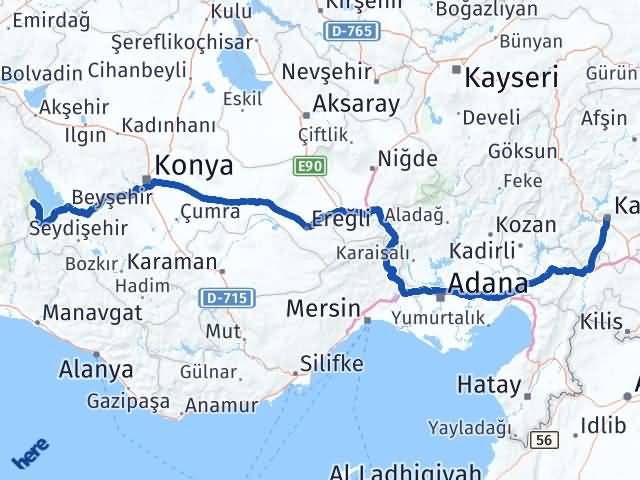 Maraş Yenişarbademli Isparta Arası Kaç Km? Arası Kaç Km Saat? Nerede Yol Haritası Yakıt, Rota ve Mesafe Hesaplama