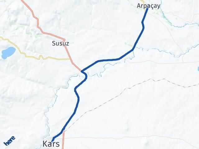 Kars Arpaçay Arası Kaç Km? Yol Haritası - Km Hesaplama Arası Kaç Km Saat? Nerede Yol Haritası Yakıt, Rota ve Mesafe Hesaplama