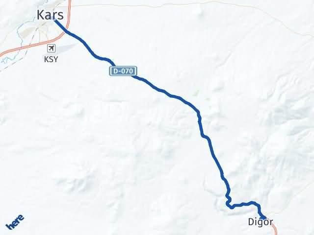 Kars Digor Arası Kaç Km? Yol Haritası - Km Hesaplama Arası Kaç Km Saat? Nerede Yol Haritası Yakıt, Rota ve Mesafe Hesaplama