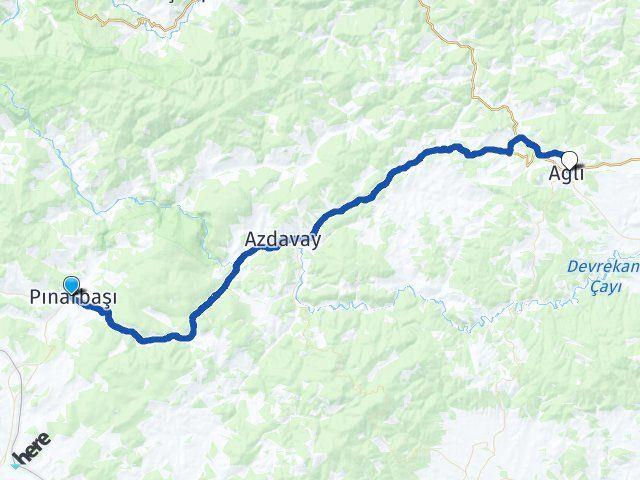 Pınarbaşı Kastamonu Ağlı Arası Kaç Km? Arası Kaç Km Saat? Nerede Yol Haritası Yakıt, Rota ve Mesafe Hesaplama