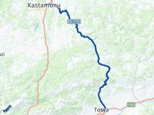 Kastamonu Tosya Arası Kaç Km? Yol Haritası - Km Hesaplama Arası Kaç Km Saat? Nerede Yol Haritası Yakıt, Rota ve Mesafe Hesaplama