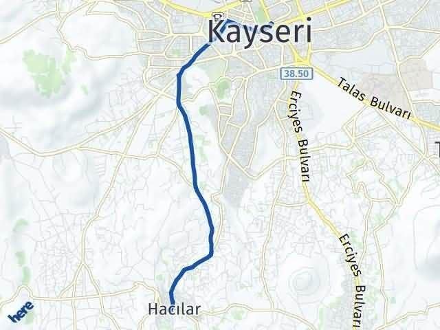 Kayseri Hacılar Arası Kaç Km? Yol Haritası - Km Hesaplama Arası Kaç Km Saat? Nerede Yol Haritası Yakıt, Rota ve Mesafe Hesaplama