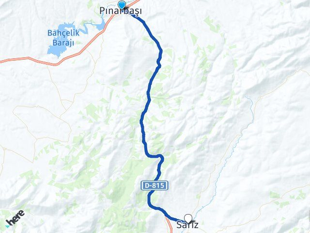 Pınarbaşı Kayseri Sarız Arası Kaç Km? Arası Kaç Km Saat? Nerede Yol Haritası Yakıt, Rota ve Mesafe Hesaplama