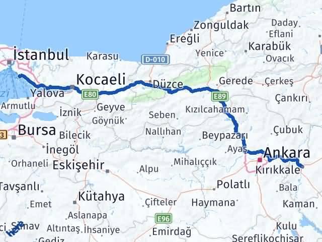 Kırıkkale Adalar İstanbul Arası Kaç Km? - Kmhesaplama.com Arası Kaç Km Saat? Nerede Yol Haritası Yakıt, Rota ve Mesafe Hesaplama