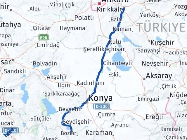 Kırıkkale Ahırlı Konya Arası Kaç Km? - Kmhesaplama.com Arası Kaç Km Saat? Nerede Yol Haritası Yakıt, Rota ve Mesafe Hesaplama