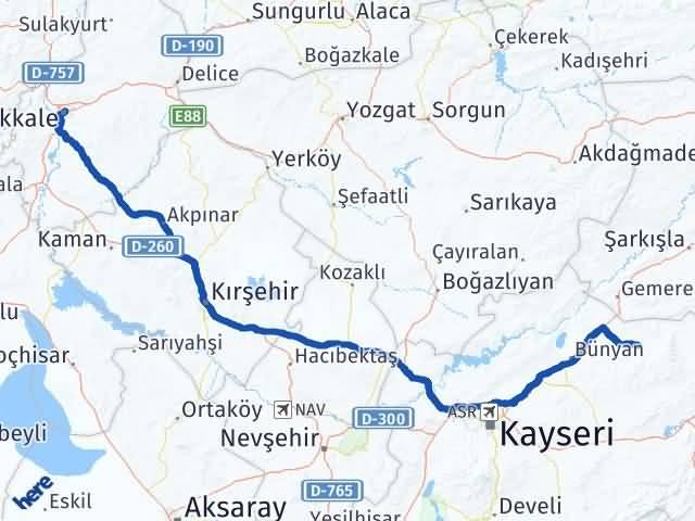 Kırıkkale Akkışla Kayseri Arası Kaç Km? - Kmhesaplama.com Arası Kaç Km Saat? Nerede Yol Haritası Yakıt, Rota ve Mesafe Hesaplama